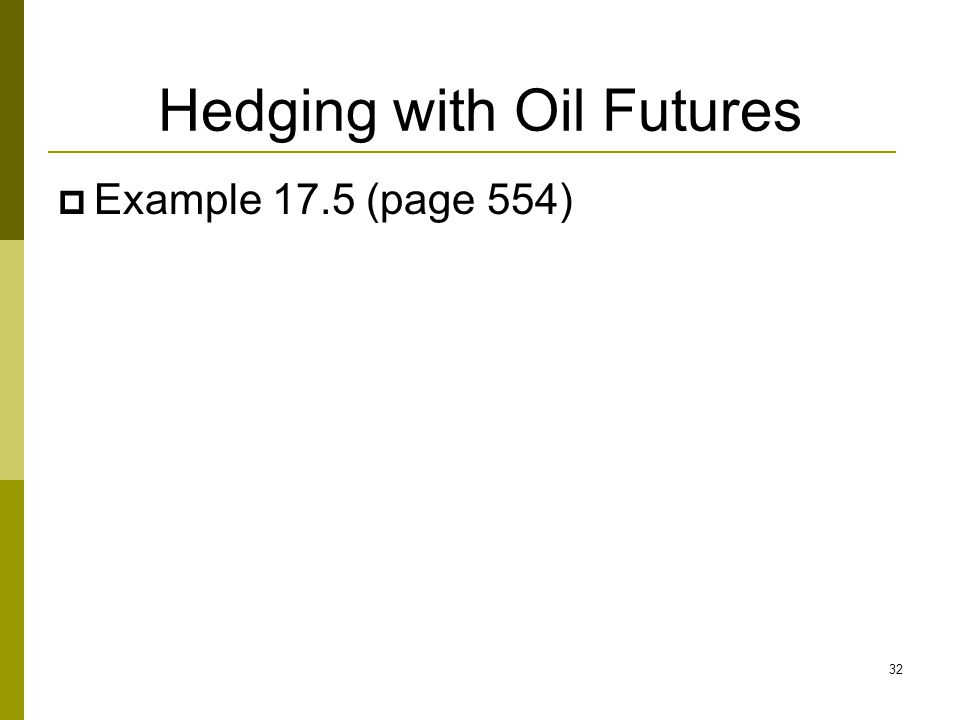 Hedging with Oil Futures