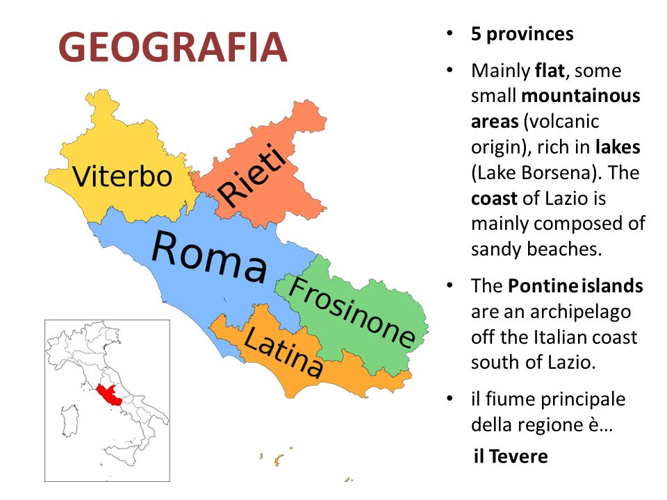 GEOGRAFIA 5 provinces.