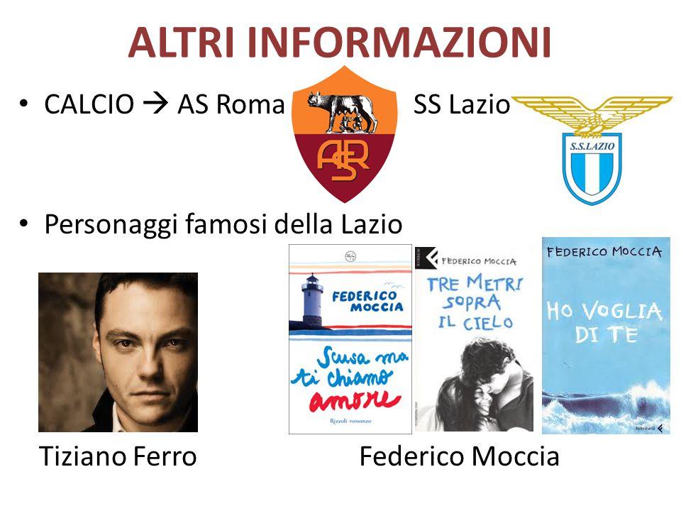 ALTRI INFORMAZIONI CALCIO  AS Roma SS Lazio
