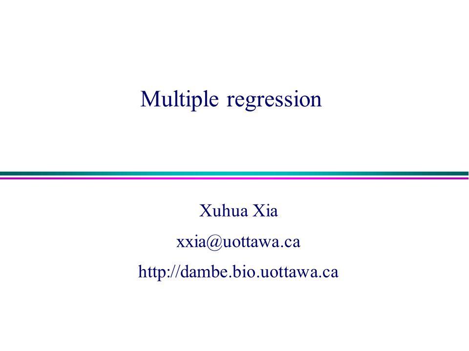 Xuhua Xia xxia@uottawa.ca http://dambe.bio.uottawa.ca