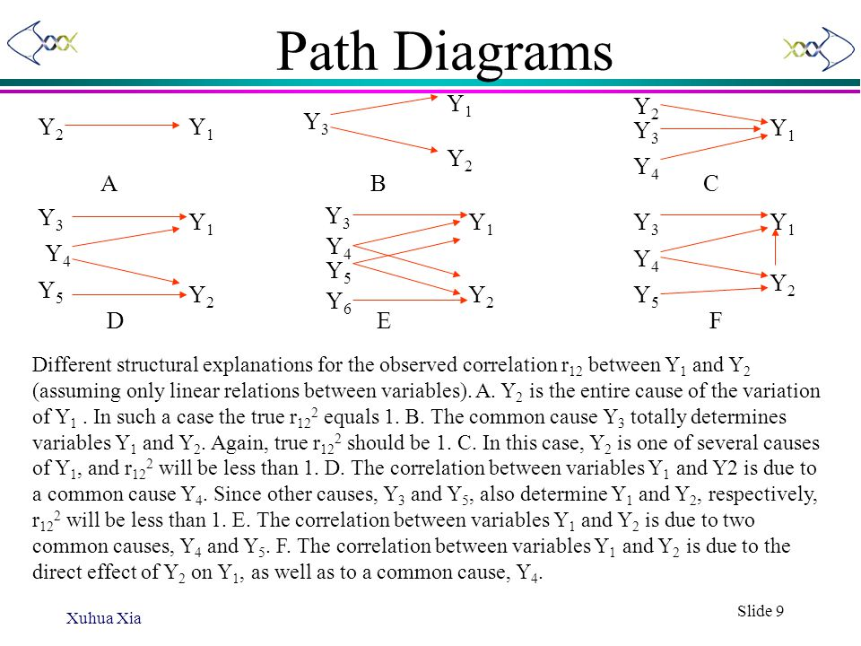 Path Diagrams Y1 Y2 Y2 Y1 Y3 Y3 Y1 Y2 Y4 A B C Y3 Y3 Y1 Y1 Y3 Y1 Y4 Y4