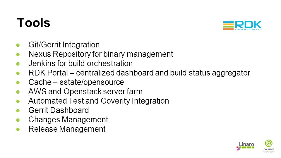 Tools Git/Gerrit Integration Nexus Repository for binary management