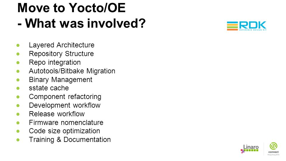 Move to Yocto/OE - What was involved