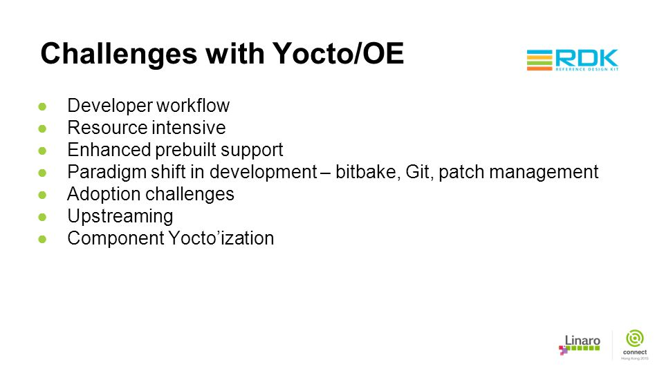Challenges with Yocto/OE