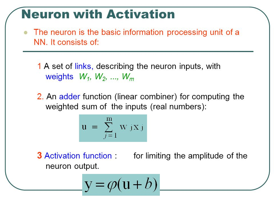 Neuron with Activation