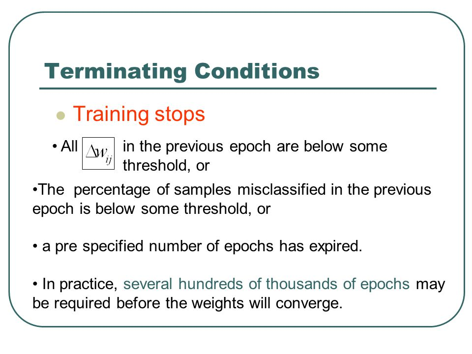 Terminating Conditions