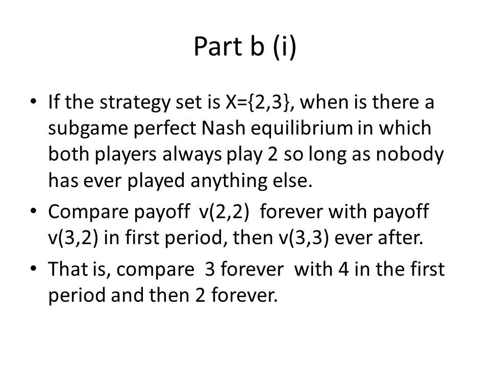 Part b (i)