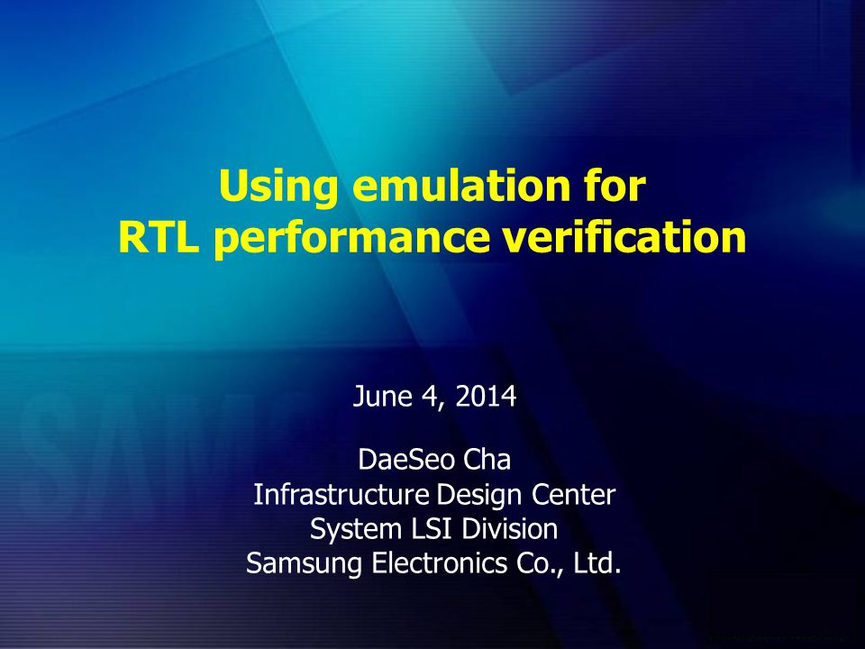 Using emulation for RTL performance verification