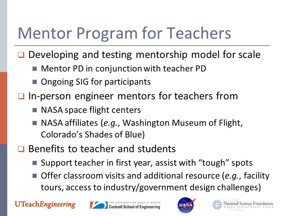 Mentor Program for Teachers