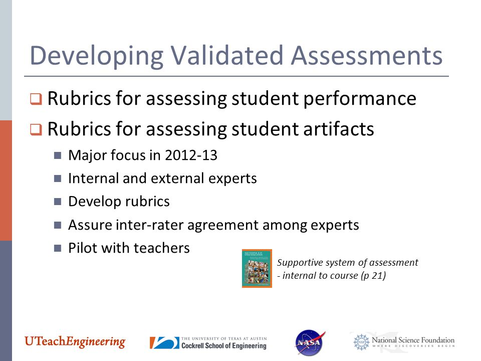 Developing Validated Assessments