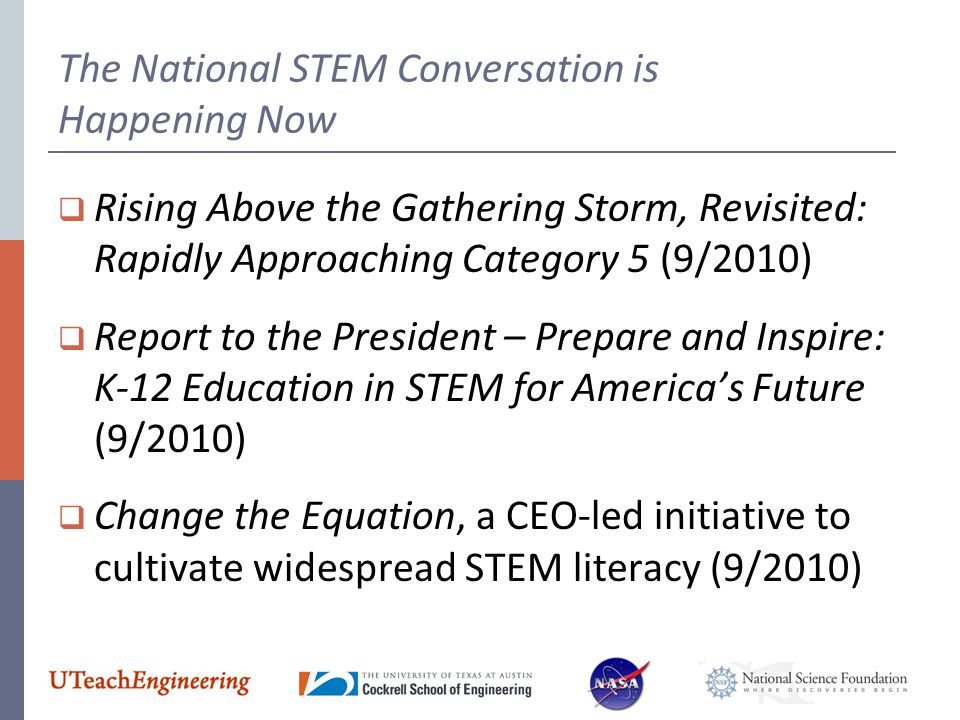 The National STEM Conversation is Happening Now