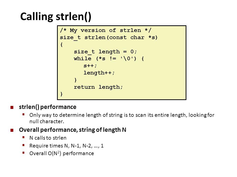 Calling strlen() strlen() performance
