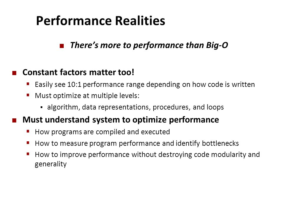 Performance Realities