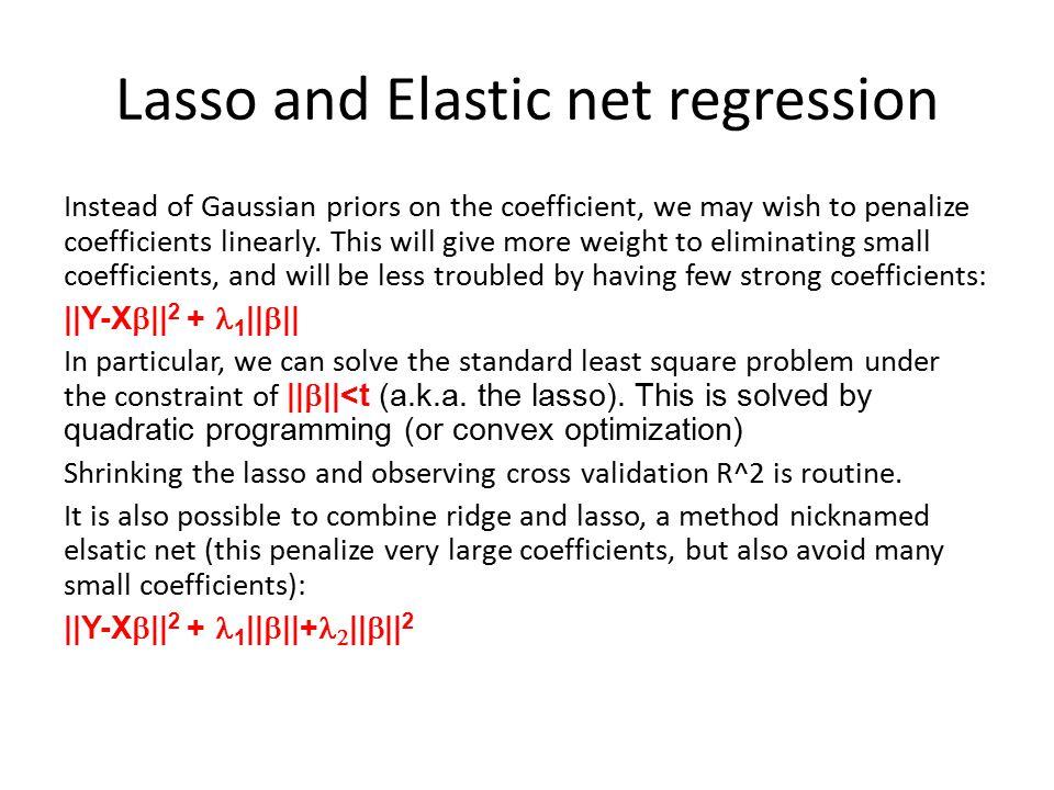 Lasso and Elastic net regression