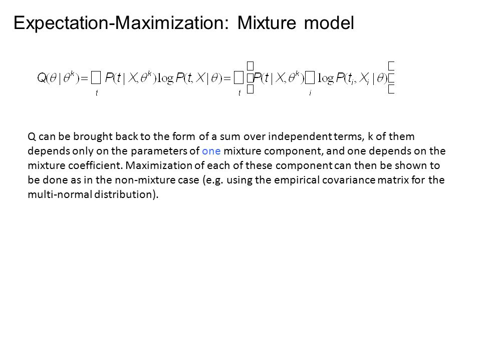Expectation-Maximization: Mixture model