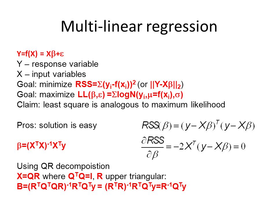 Multi-linear regression