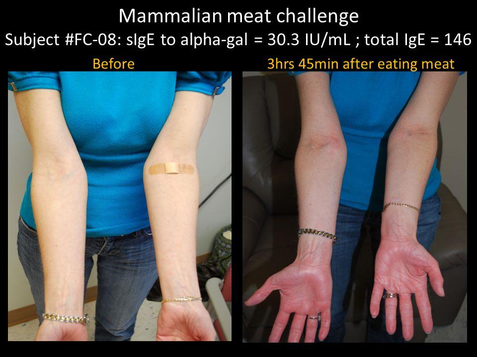 Mammalian meat challenge
