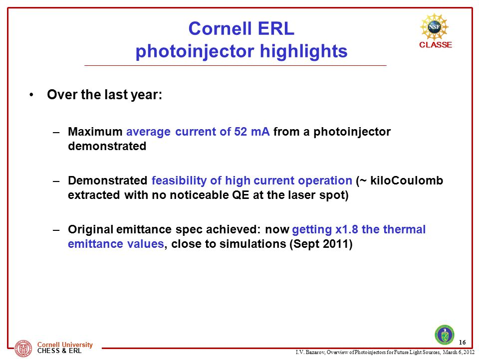 Cornell ERL photoinjector highlights