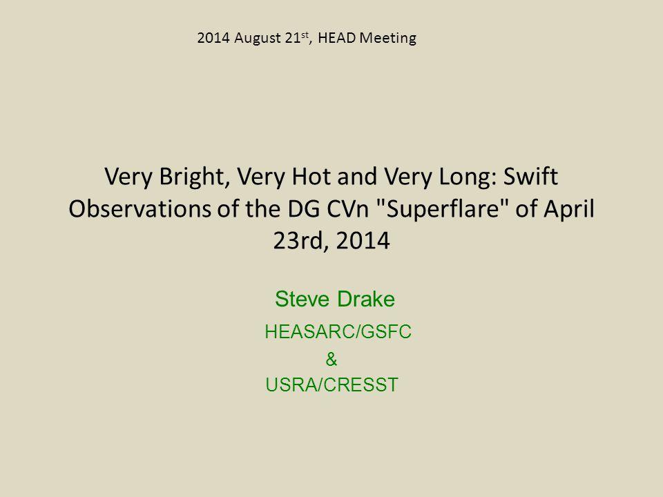 Steve Drake HEASARC/GSFC & USRA/CRESST