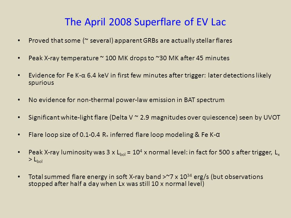 The April 2008 Superflare of EV Lac