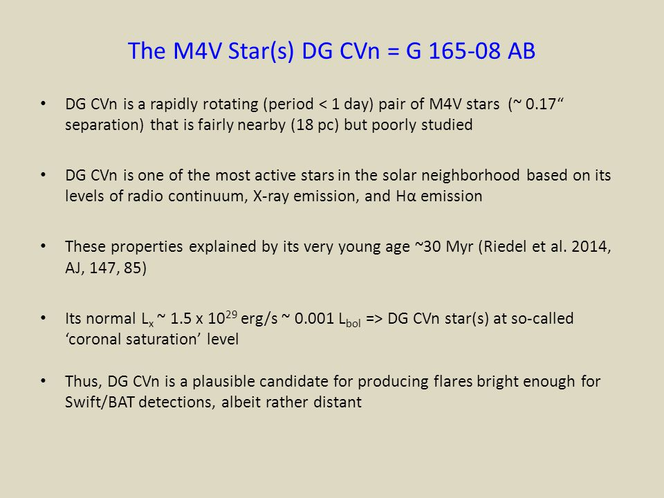 The M4V Star(s) DG CVn = G 165-08 AB