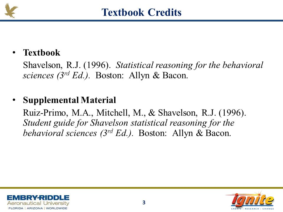 Textbook Credits Textbook