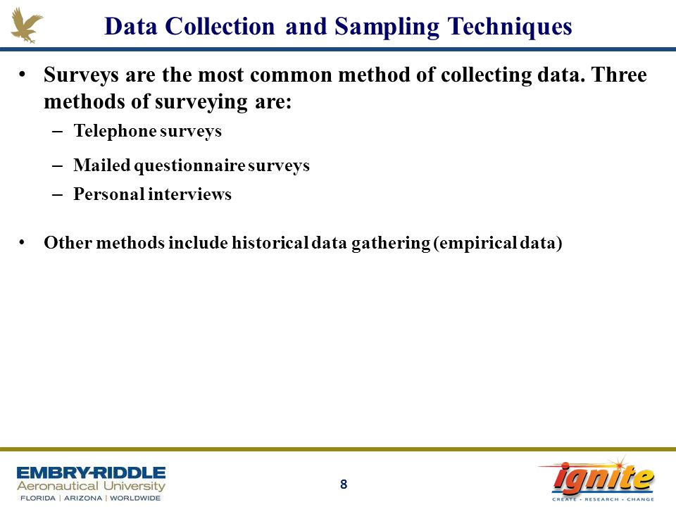 Data Collection and Sampling Techniques