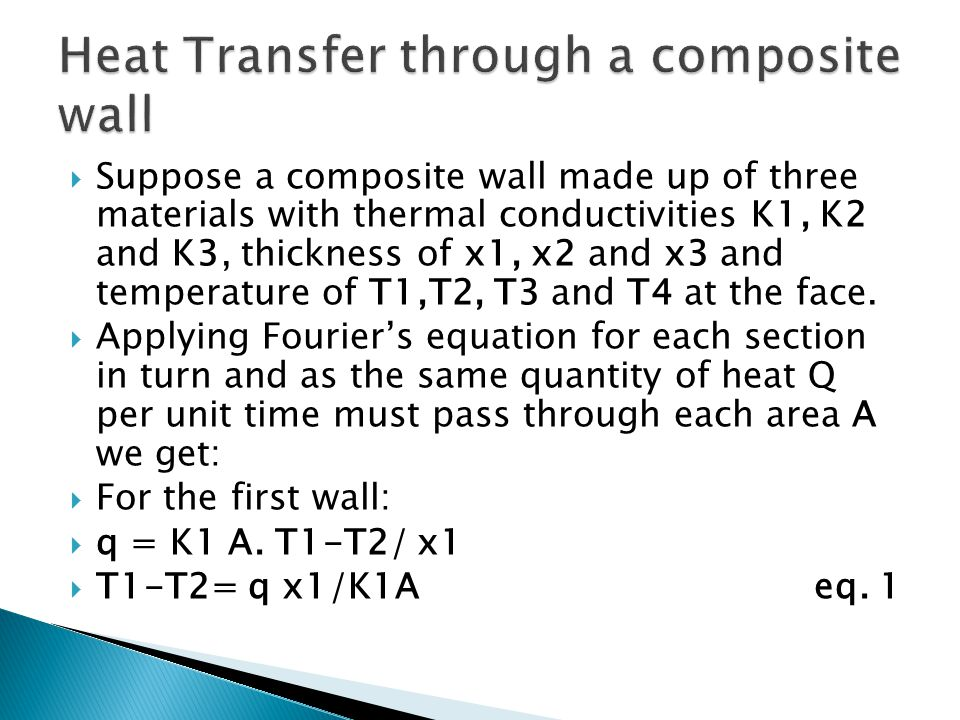 Heat Transfer through a composite wall