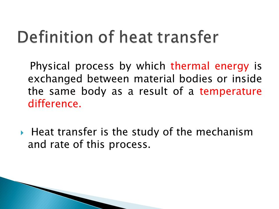 Definition of heat transfer