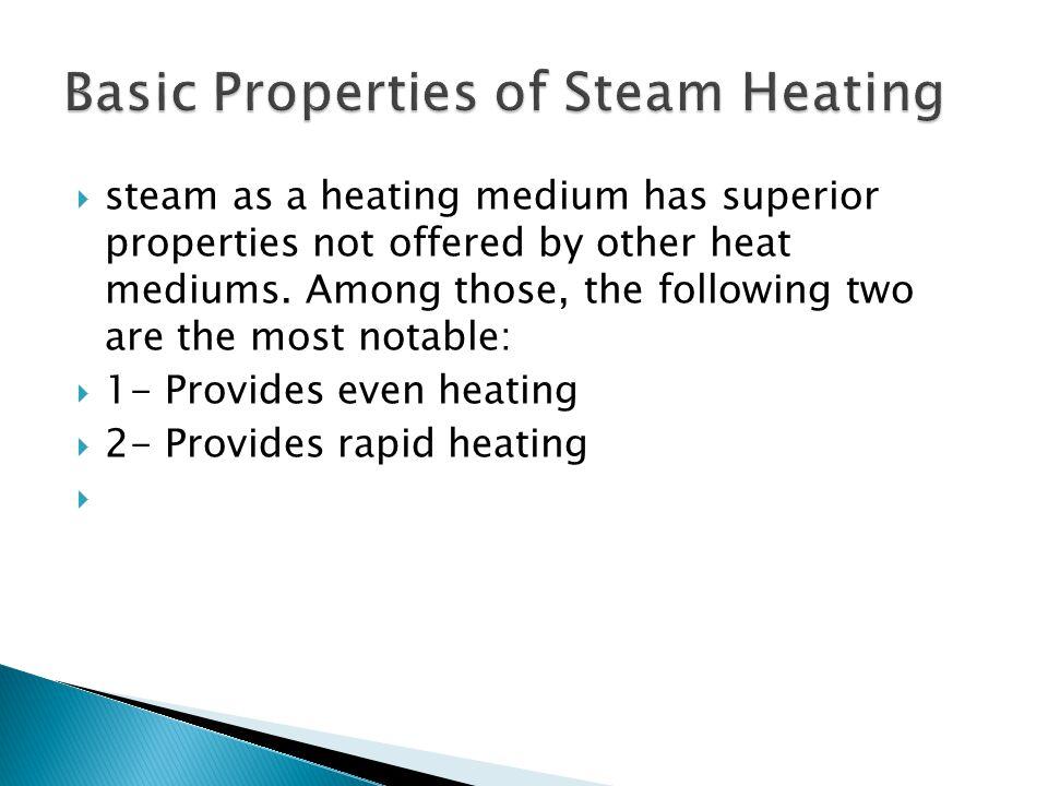 Basic Properties of Steam Heating