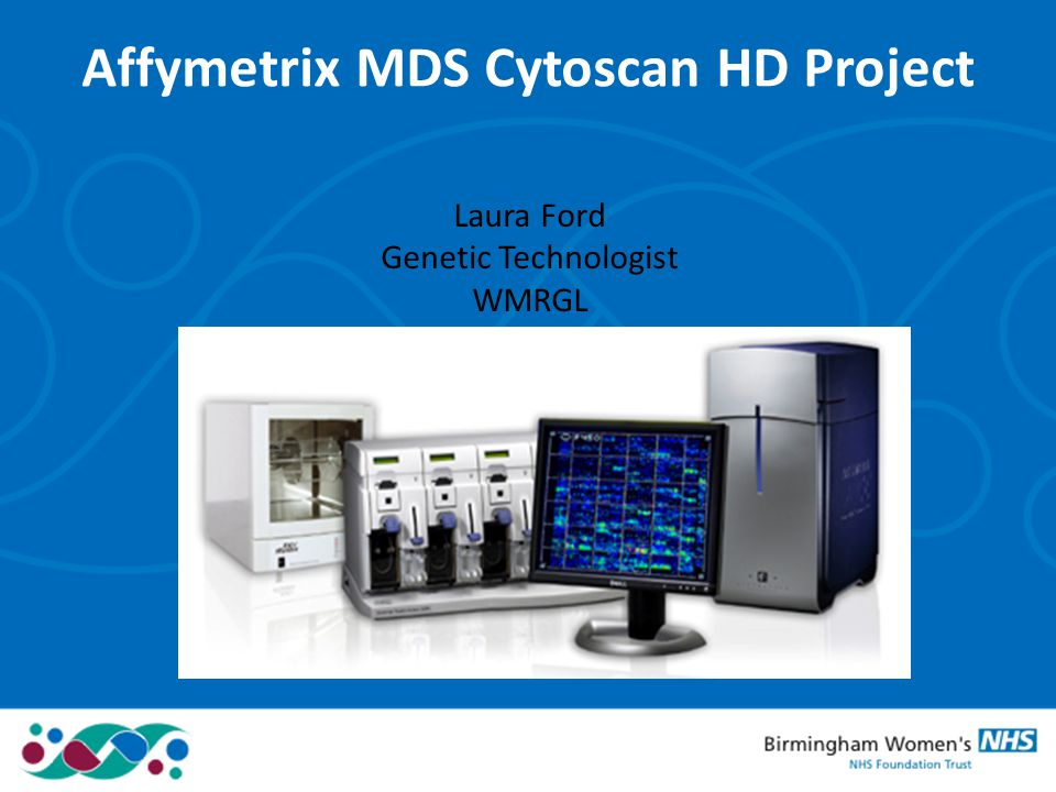 Affymetrix MDS Cytoscan HD Project