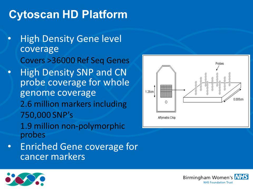 Cytoscan HD Platform High Density Gene level coverage