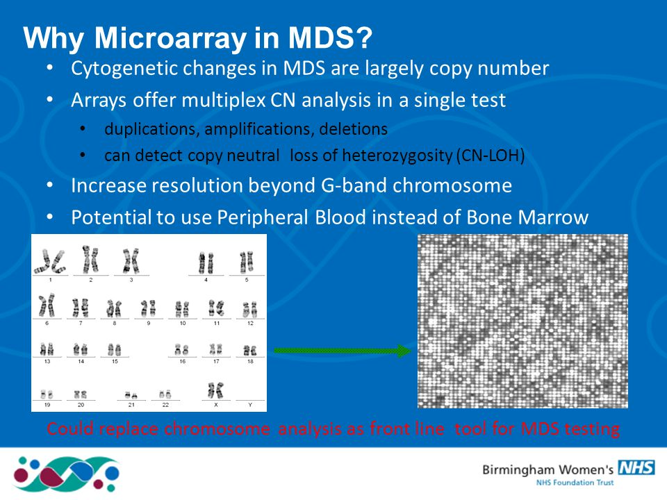 Could replace chromosome analysis as front line tool for MDS testing