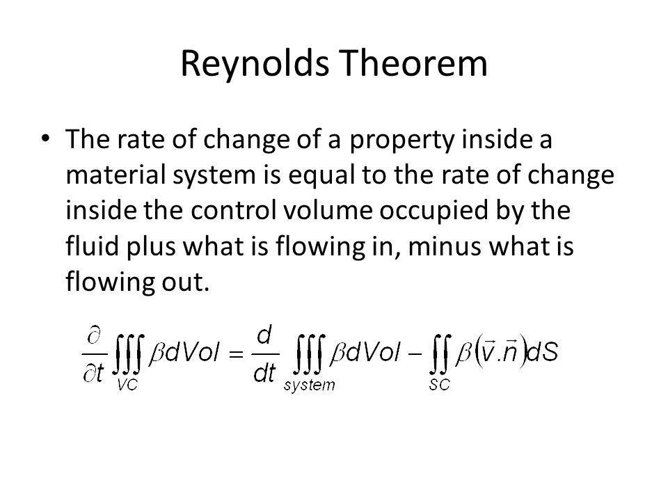 Reynolds Theorem