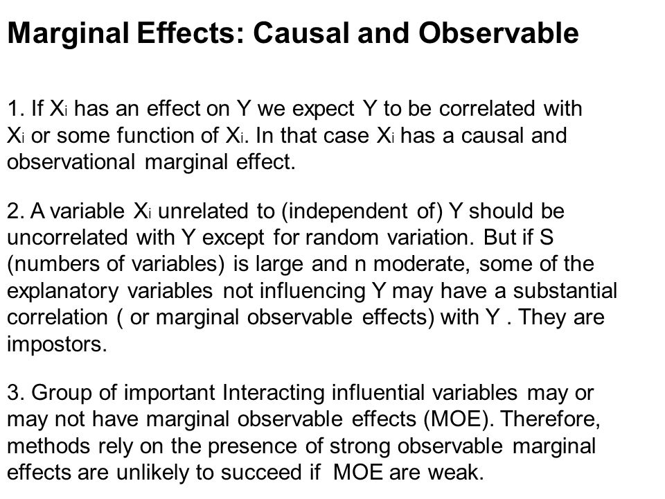 Marginal Effects: Causal and Observable