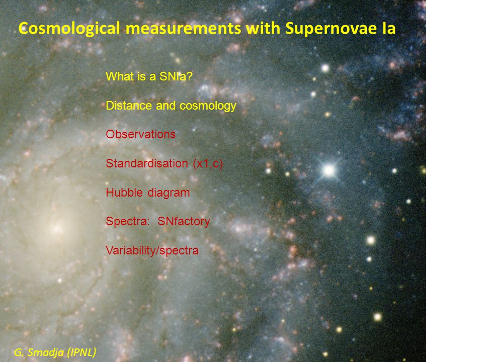 Cosmological measurements with Supernovae Ia