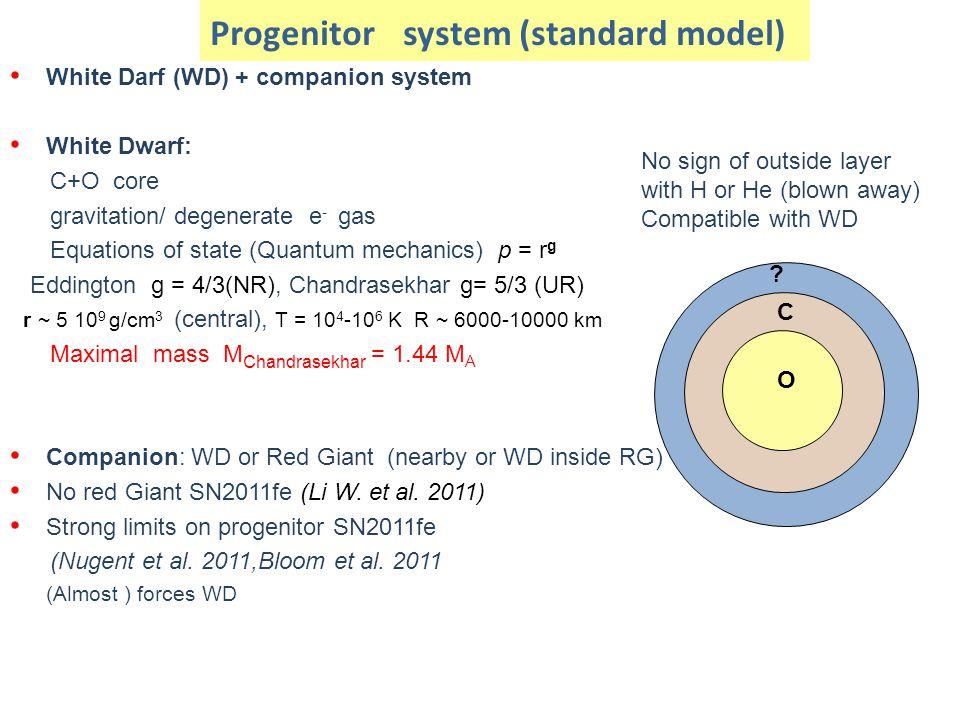 Progenitor system (standard model)