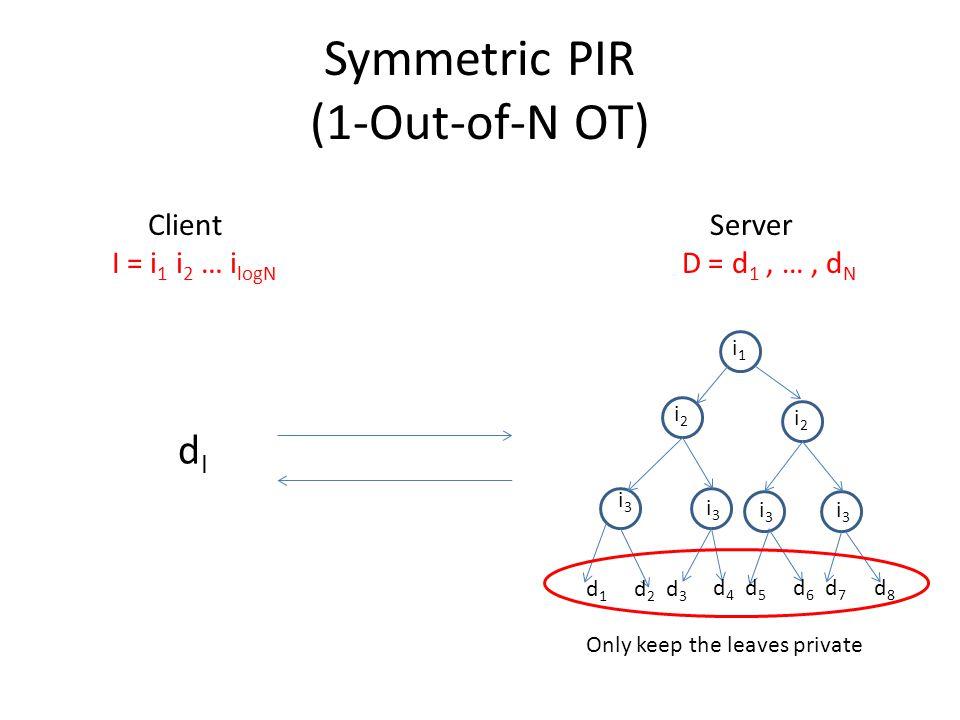 Symmetric PIR (1-Out-of-N OT)