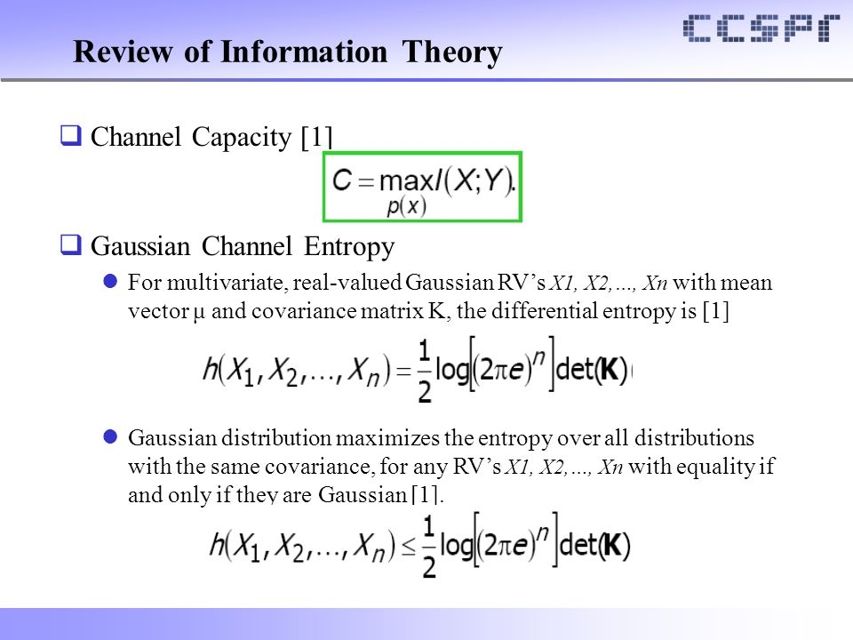 Review of Information Theory