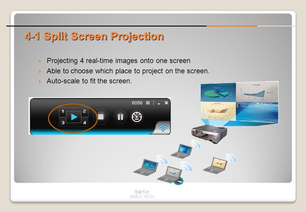 4-1 Split Screen Projection