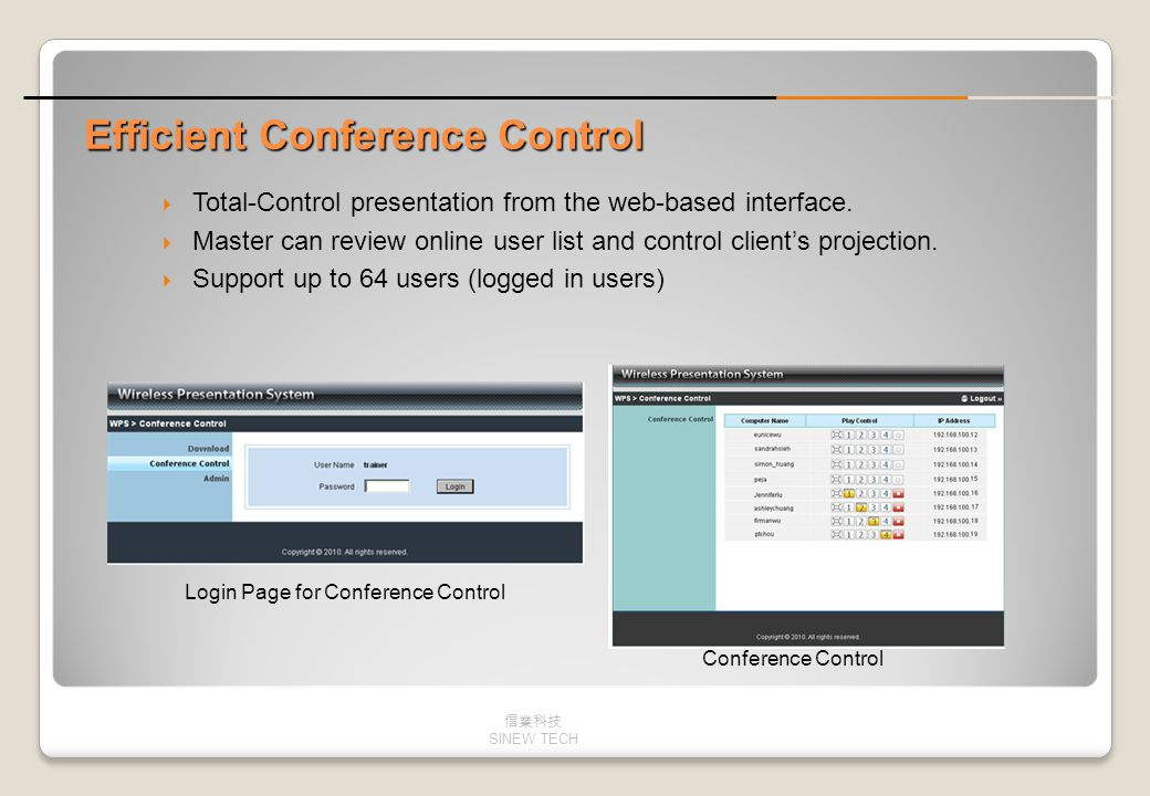 Efficient Conference Control