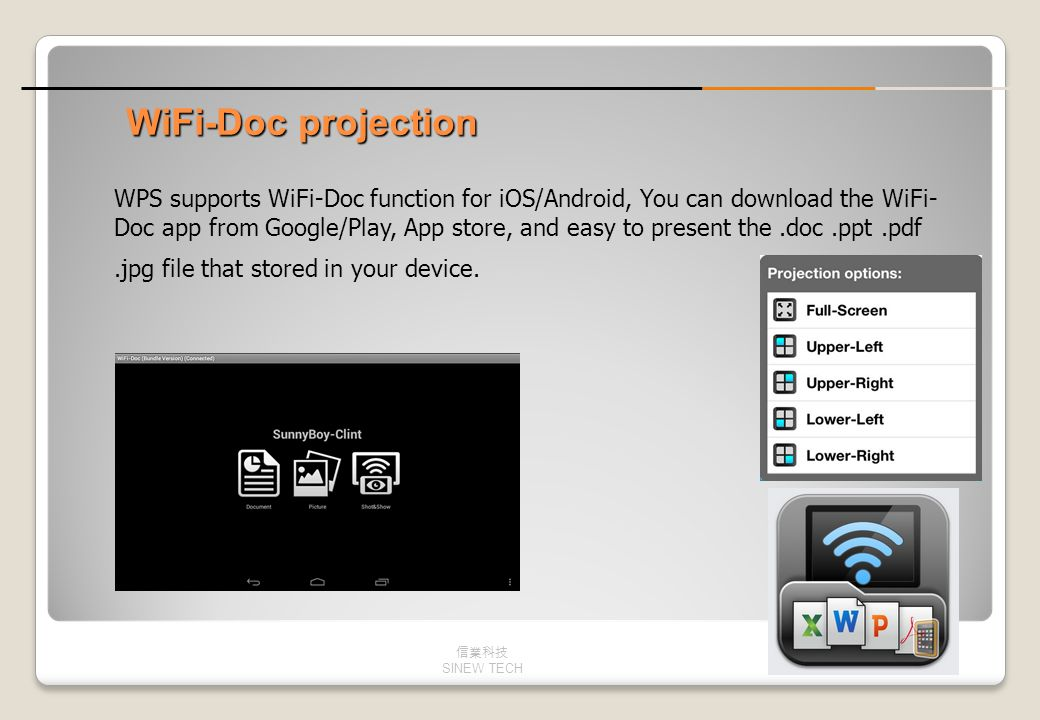 WiFi-Doc projection