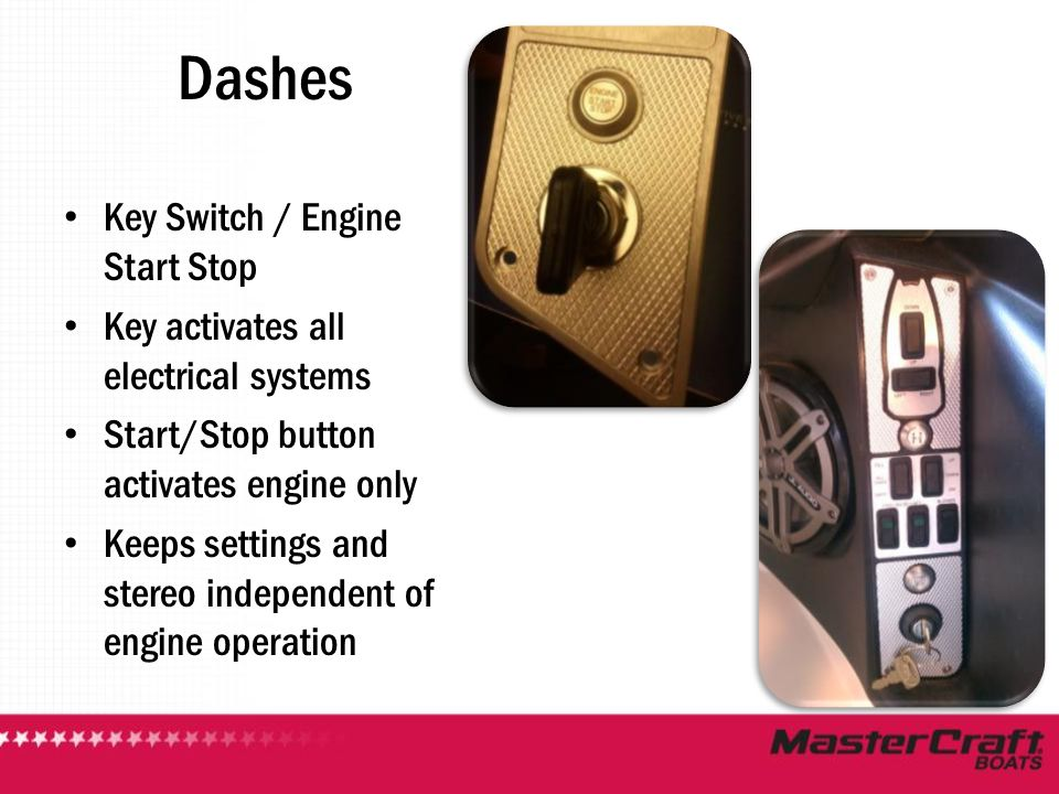 Dashes Key Switch / Engine Start Stop