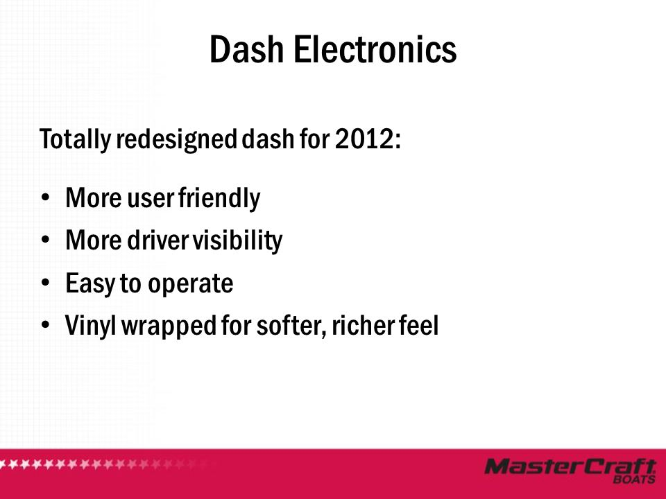 Dash Electronics Totally redesigned dash for 2012: More user friendly