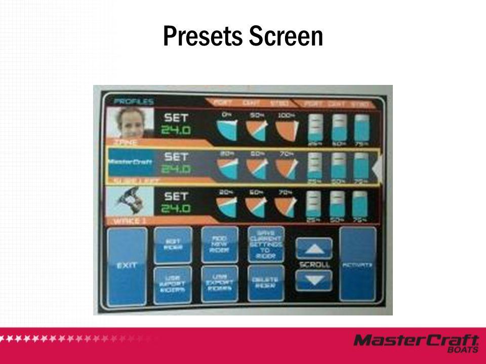 Presets Screen