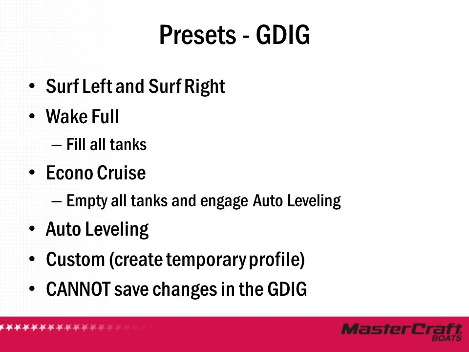 Presets - GDIG Surf Left and Surf Right Wake Full Econo Cruise