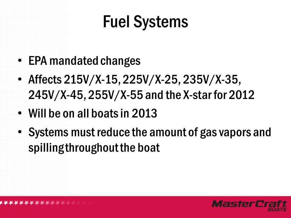 Fuel Systems EPA mandated changes