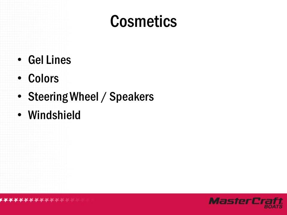 Cosmetics Gel Lines Colors Steering Wheel / Speakers Windshield