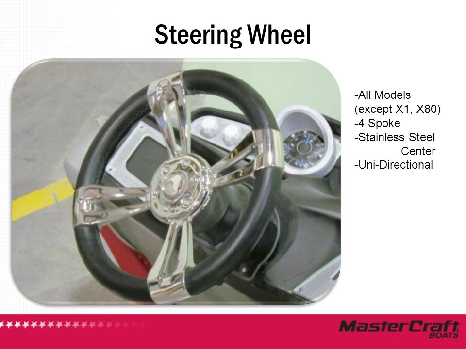 Steering Wheel All Models (except X1, X80) 4 Spoke