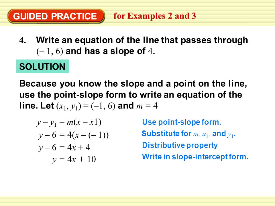GUIDED PRACTICE GUIDED PRACTICE for Examples 2 and 3